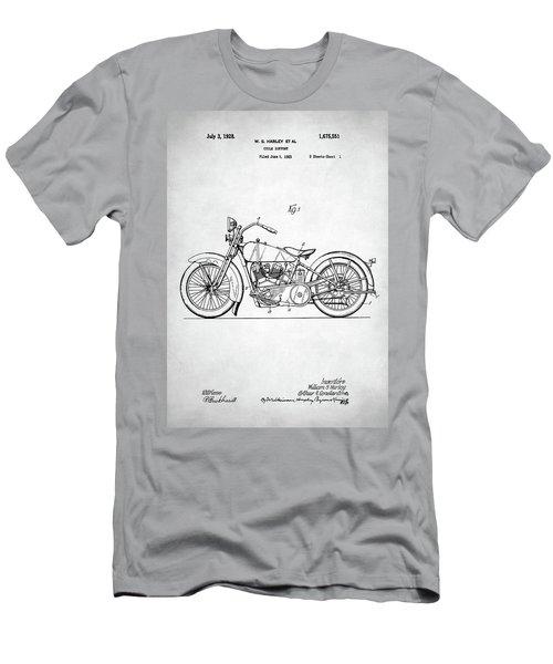 Men's T-Shirt (Slim Fit) featuring the digital art Harley Davidson Patent by Taylan Apukovska