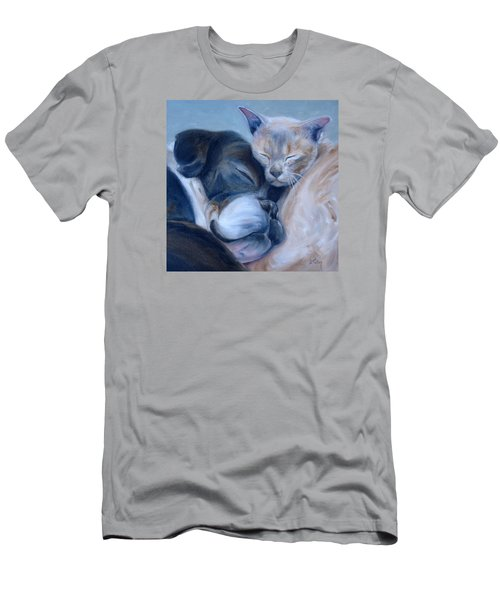 Men's T-Shirt (Slim Fit) featuring the painting Harmony by Donna Tuten