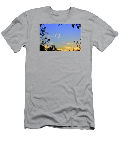 Hashtag Sky Men's T-Shirt (Slim Fit) by Lew Davis