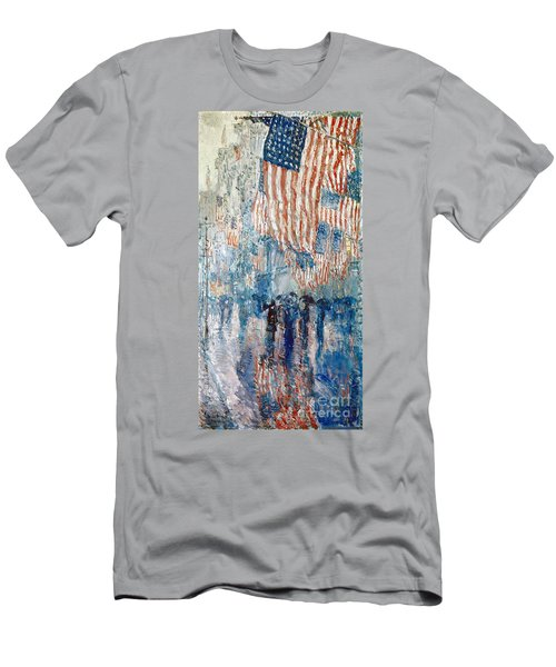 Hassam Avenue In The Rain Men's T-Shirt (Athletic Fit)
