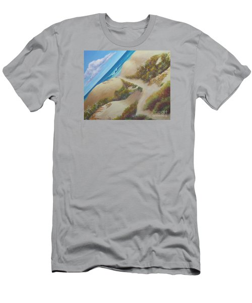 Hatteras Seashore Men's T-Shirt (Slim Fit) by Anne Marie Brown