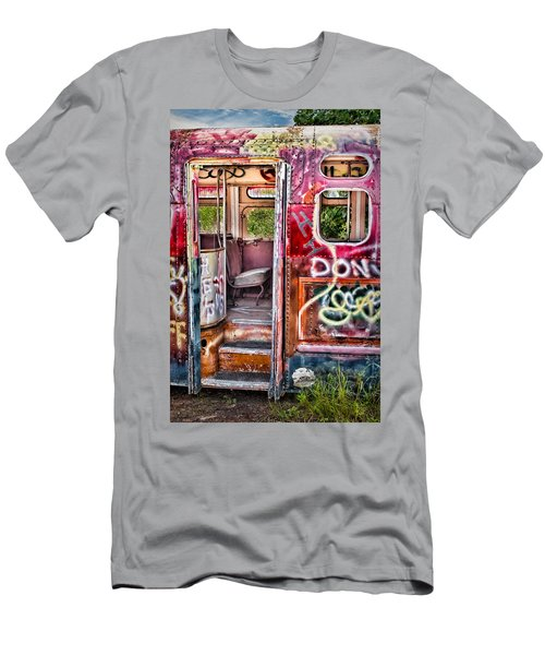 Haunted Graffiti Art Bus Men's T-Shirt (Athletic Fit)