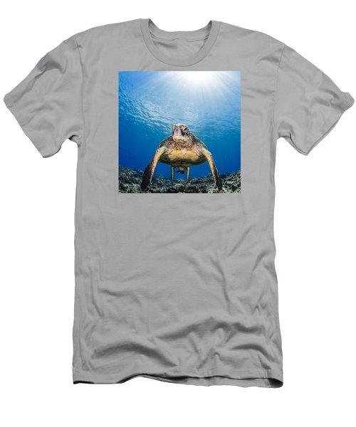 Hawaiian Turtle Men's T-Shirt (Athletic Fit)