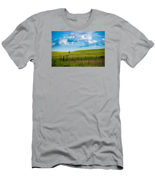 Hawk And Flint Hills Men's T-Shirt (Athletic Fit)