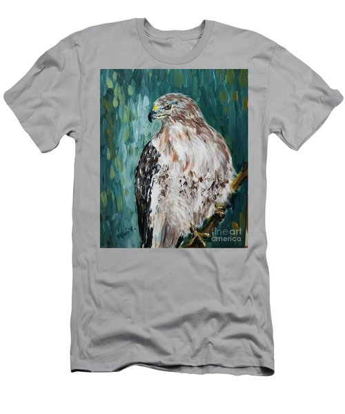 Men's T-Shirt (Athletic Fit) featuring the painting Hawk by Maria Langgle
