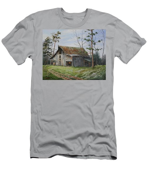 Hawks At The Barn Men's T-Shirt (Athletic Fit)