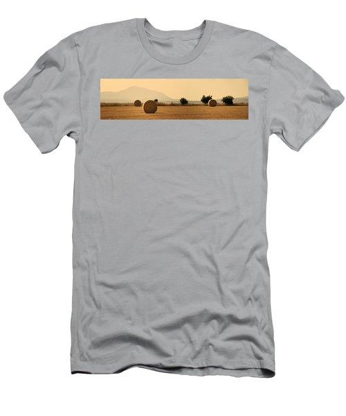 Hay Rolls  Men's T-Shirt (Athletic Fit)