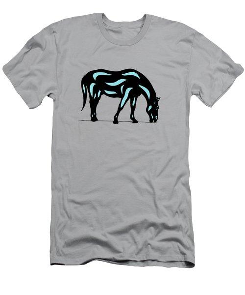 Hazel - Pop Art Horse - Black, Island Paradise Blue, Hazelnut Men's T-Shirt (Slim Fit) by Manuel Sueess
