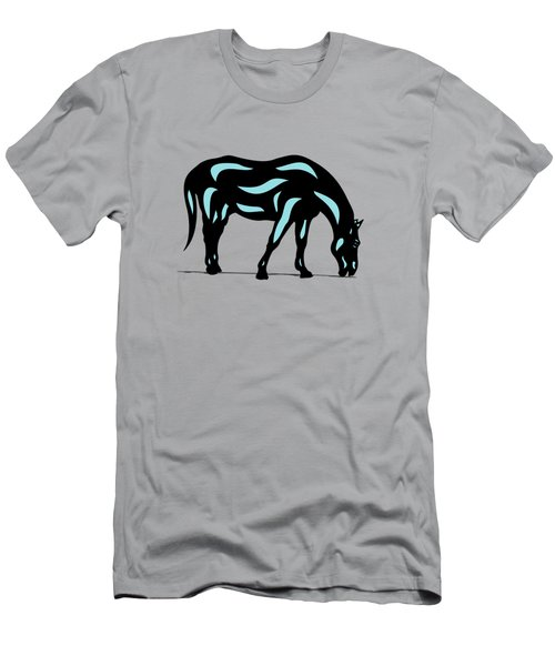 Hazel - Pop Art Horse - Black, Island Paradise Blue, Hazelnut Men's T-Shirt (Athletic Fit)