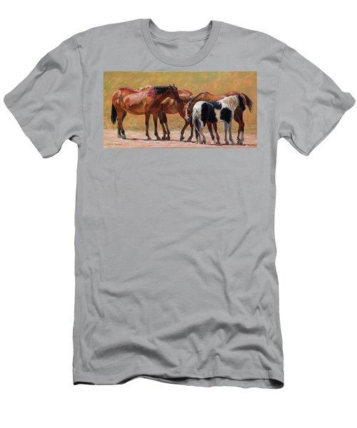 Heads Or Tails Men's T-Shirt (Slim Fit) by Bonnie Mason