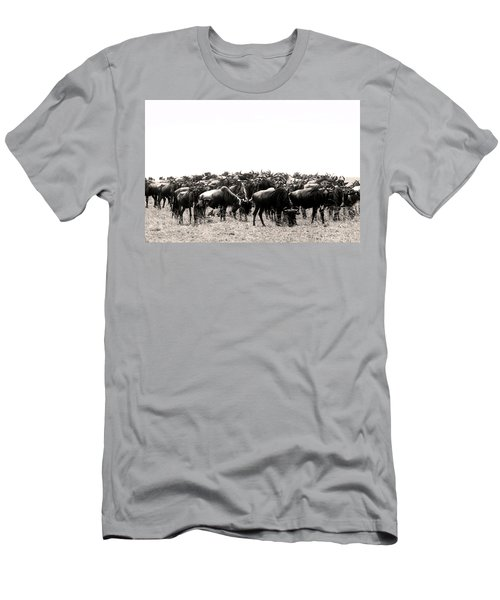 Herd Of Wildebeestes Men's T-Shirt (Athletic Fit)