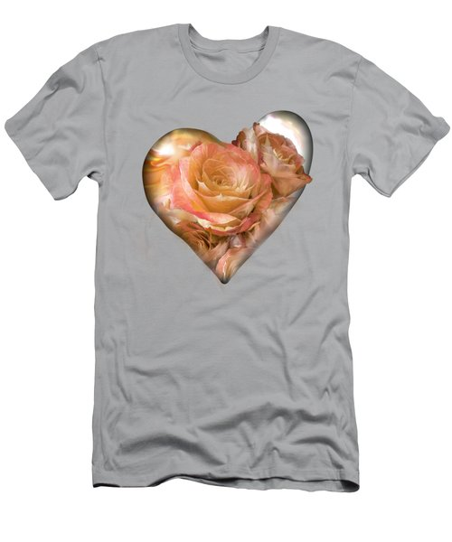 Heart Of A Rose - Gold Bronze Men's T-Shirt (Athletic Fit)