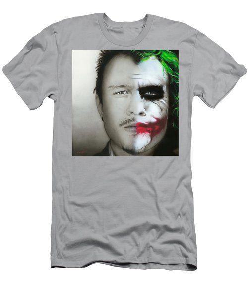Heath Ledger / Joker Men's T-Shirt (Athletic Fit)