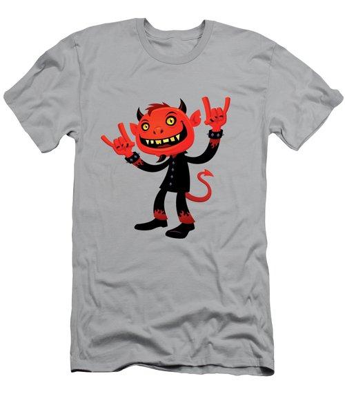 Heavy Metal Devil Men's T-Shirt (Athletic Fit)