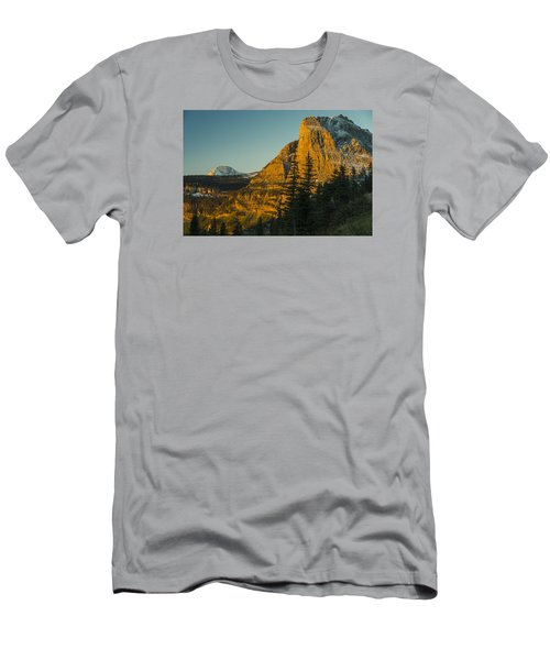 Heavy Runner Mountain Men's T-Shirt (Slim Fit) by Gary Lengyel