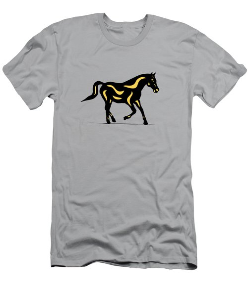Heinrich - Pop Art Horse - Black, Primrose Yellow, Hazelnut Men's T-Shirt (Athletic Fit)