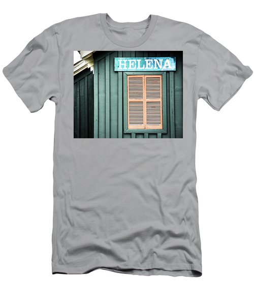 Men's T-Shirt (Slim Fit) featuring the photograph Helena Sign On A Spring Day by Parker Cunningham
