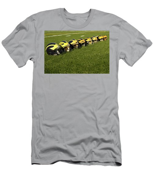 Helmets Of Different Eras On The Field Men's T-Shirt (Athletic Fit)