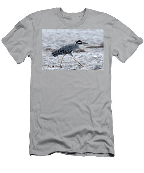 Yellow-crowned Night Heron On A Mission Men's T-Shirt (Athletic Fit)