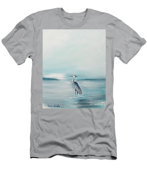 Heron Silence Men's T-Shirt (Athletic Fit)