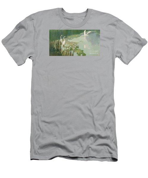 Herons In Summer Men's T-Shirt (Athletic Fit)