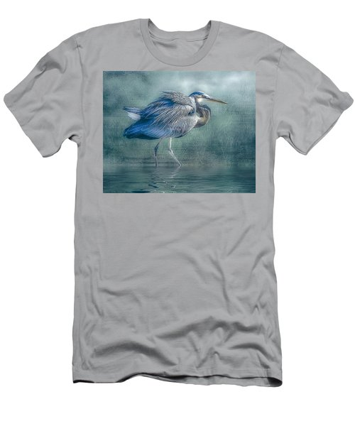 Heron's Pool Men's T-Shirt (Slim Fit) by Brian Tarr