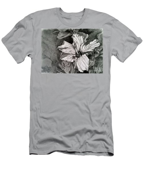 Men's T-Shirt (Slim Fit) featuring the drawing Hibiscus by Terri Mills