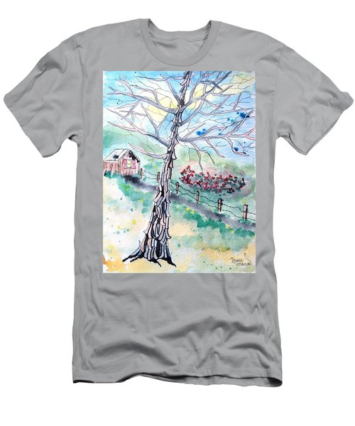 Men's T-Shirt (Athletic Fit) featuring the painting Hickory by Denise Tomasura