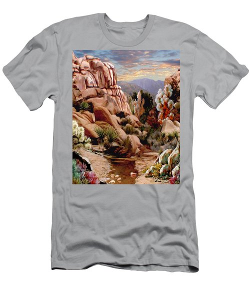 Hidden Valley Trail Men's T-Shirt (Slim Fit) by Ron Chambers