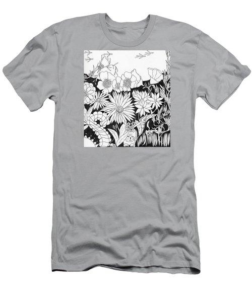 Hide And Seek Men's T-Shirt (Slim Fit) by Lou Belcher