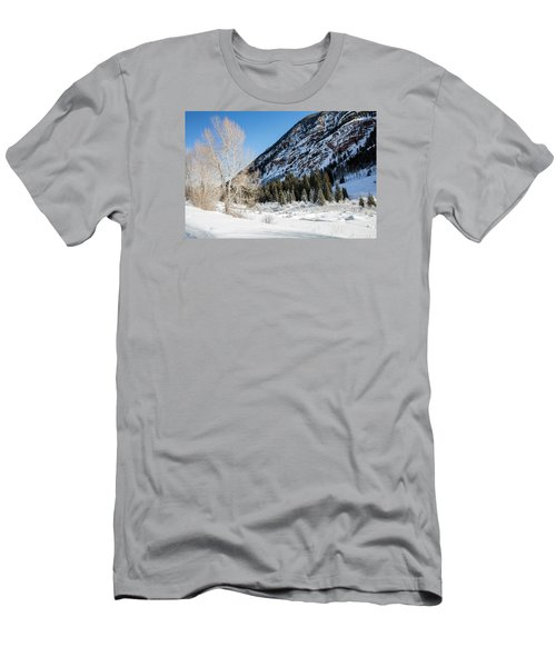 High In The Rockies Before Independence Pass Men's T-Shirt (Slim Fit) by Carol M Highsmith