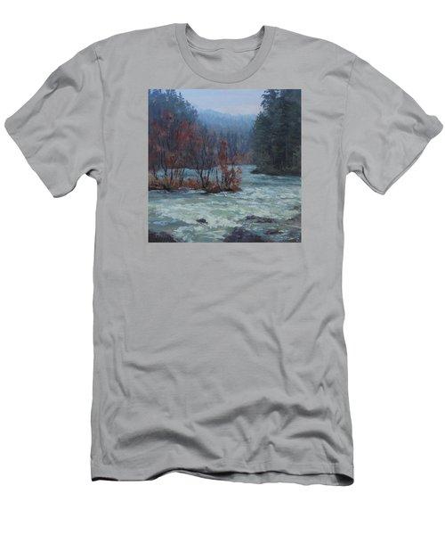 Men's T-Shirt (Slim Fit) featuring the painting High Water by Karen Ilari