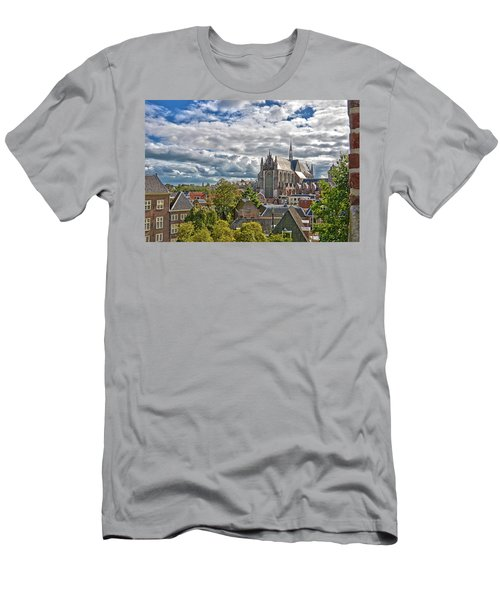 Highland Church Seen From Leiden Castle Men's T-Shirt (Athletic Fit)