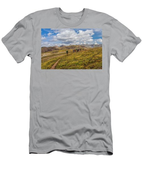 Hiking At 13,000 Feet Men's T-Shirt (Athletic Fit)