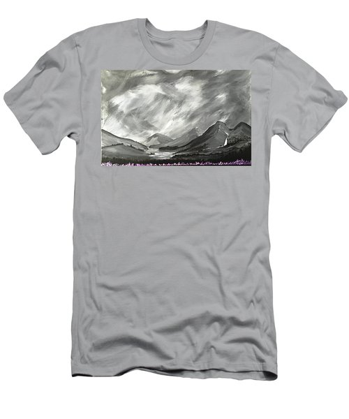 Hills And Heather  Men's T-Shirt (Slim Fit) by Scott Wilmot