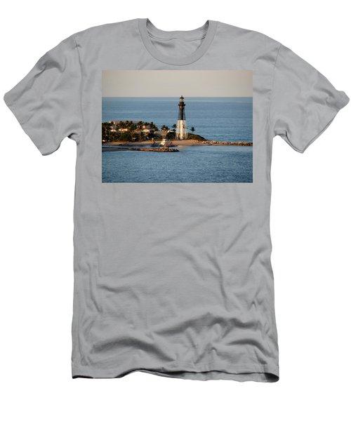 Hillsboro Lighthouse In Florida Men's T-Shirt (Athletic Fit)