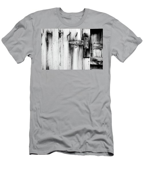 Hinged In Black And White Men's T-Shirt (Athletic Fit)