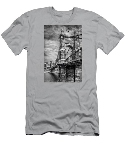 Historic Roebling Bridge Men's T-Shirt (Athletic Fit)