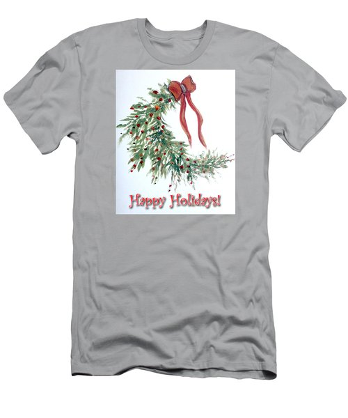 Holidays Card - 4 Men's T-Shirt (Slim Fit) by Dorothy Maier