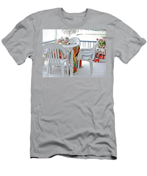 Home Sweet Frozen Home Men's T-Shirt (Slim Fit) by Carol F Austin