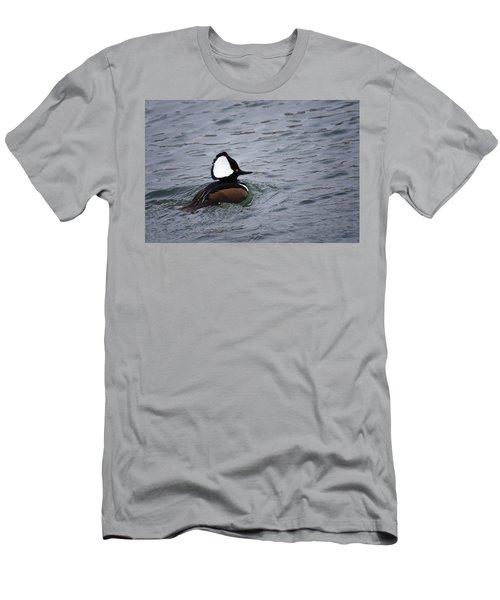 Hooded Merganser 3 Men's T-Shirt (Slim Fit) by Gary Hall