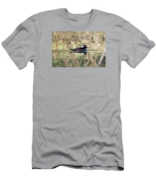 Hooded Merganser Men's T-Shirt (Slim Fit) by Elizabeth Budd