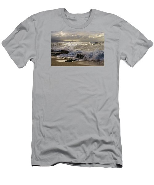 Ho'okipa Beach Maui Men's T-Shirt (Slim Fit) by Janis Knight