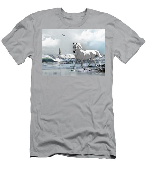 Horse At Roker Pier Men's T-Shirt (Athletic Fit)