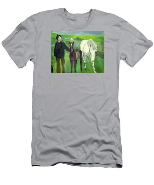 Horse And Foal Men's T-Shirt (Athletic Fit)