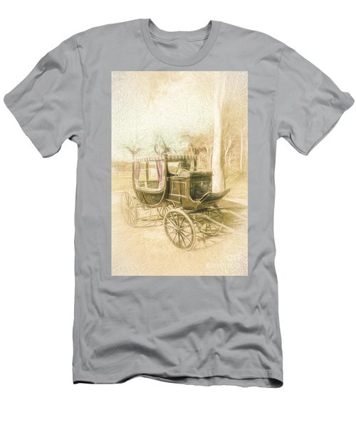 Horse Drawn Funeral Cart  Men's T-Shirt (Athletic Fit)