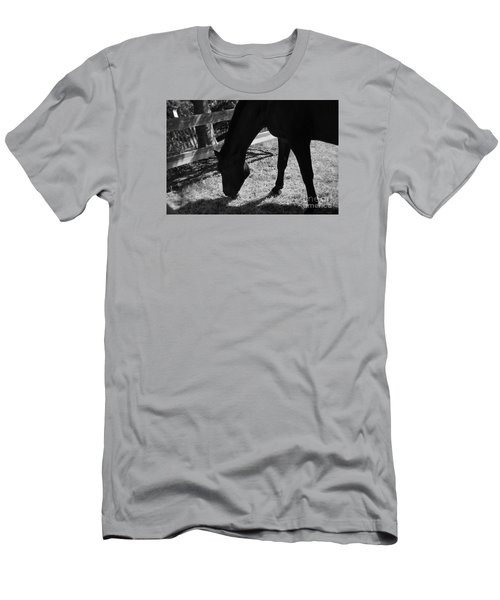 Horse In Black And White Men's T-Shirt (Slim Fit) by Tanya  Searcy