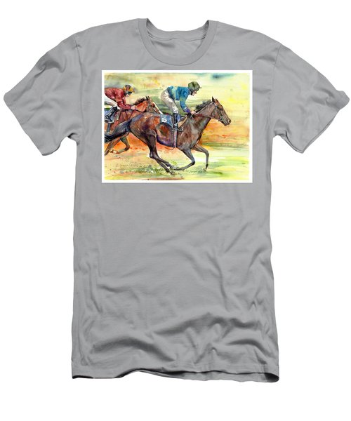 Horse Races Men's T-Shirt (Athletic Fit)