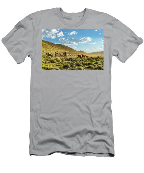 Horses And More Horses Men's T-Shirt (Athletic Fit)