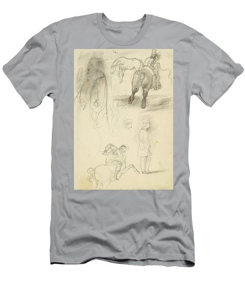 Horses Riders And A Young Man Men's T-Shirt (Athletic Fit)